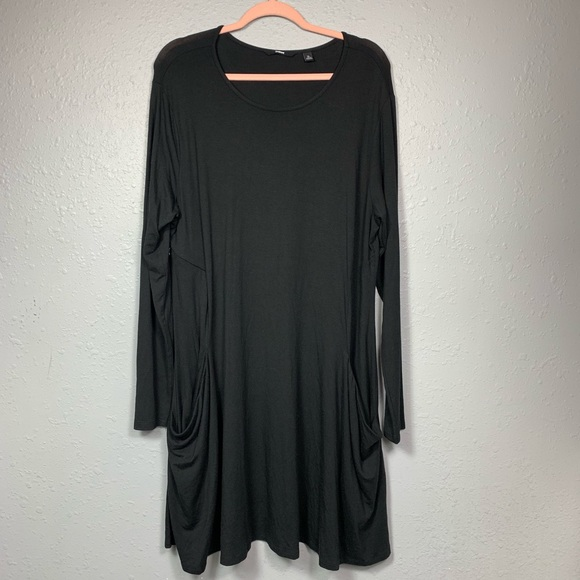 90dd717df825 Betabrand Dresses & Skirts - Betabrand Sweatshirt Travel Dress Silk Black XL